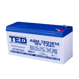 TEDBATERIE AGM TED1214F1 12V 1.4Ah