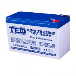 TEDBATERIE AGM TED1286F2 12V 8.6Ah