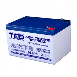 TEDBATERIE AGM TED1212F1 12V 12Ah