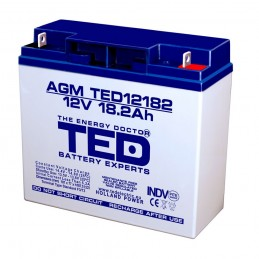 TEDBATERIE AGM TED12182T3 12V 18.2Ah