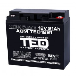 TEDBATERIE AGM TED1221HRM5 12V 21Ah HIGH RATE