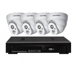 AEVISIONSistem supraveghere video IP PoE 4 camere dome 1080P Aevision
