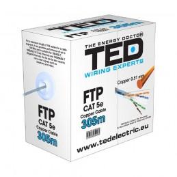 Accesorii montaj CABLU FTP CATEGORIA 5 2 X 4 FIRE CALITATE 0,5MM CUPRU TE088583 TED ELECTRIC TED
