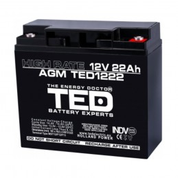 TEDBATERIE AGM TED1222HRM5 12V 22AH HIGH RATE