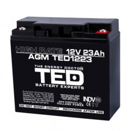 TEDBATERIE AGM TED1223HRM5 12V 23AH HIGH RATE