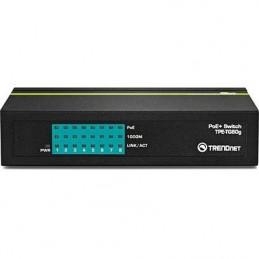 TRENDNETTD 8-PORT GB GREENNET POE+ SWITCH, TG80G