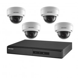 HIKVISIONKIT IP 4X IP CAM DOME 1XNVR 1XHDD1TB POE