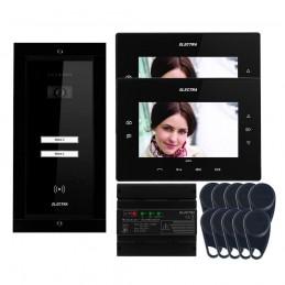 "Videointerfoane Videointerfon Electra Extra 7"" pentru 2 familii montaj incastrat - negru ELECTRA"