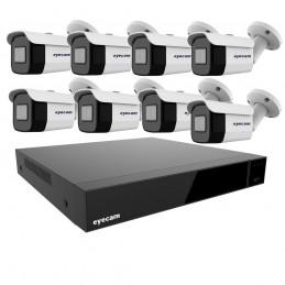 Sistem Supraveghere Video Exterior 8 Camere 30M 5MP
