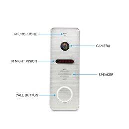 "Kit Videointerfon AHD MorningTech HD 10"" Slot Card Wifi Tuya App - Negru"